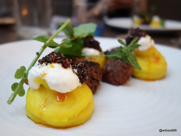 Lima Restaurant London - Beef Pachamanca (Wild black quinoa. Huacatay herb, Cow's milk, Aji panca)