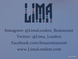 Lima Restaurant London -Instagram / Twitter / Facebook / WWW