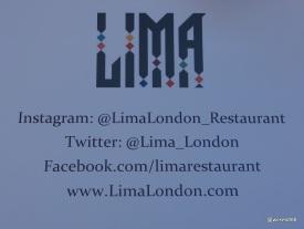Lima Restaurant London -Instagram / Twitter / Facebook / WWW