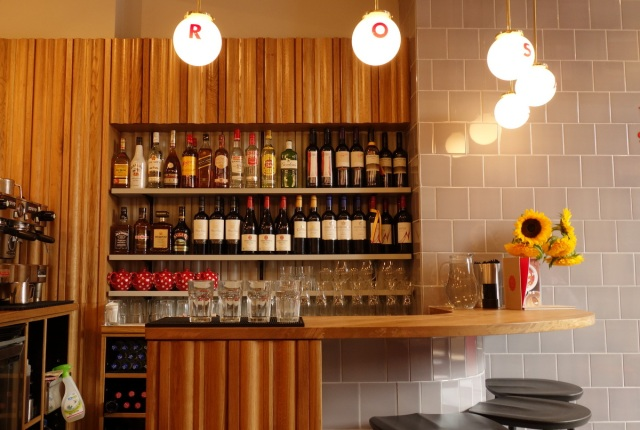 Rosa's Carnaby - R-O-S-A in lights