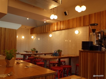 Rosa's Carnaby - Lots of white tile and wooden colours