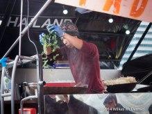 Bang Wok show theatrical wok skills..