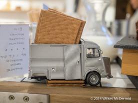"A replica of ""Watson"" the 1974 Citroën-H van tea-mobile"