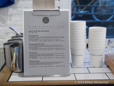 Good & Proper Tea Menu