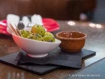 'Aceitunas Gordal' (Plump Gordal olives, lemon zest, thyme, rosemary and cava vinegar)