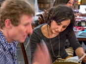 Richard Bigg ('Copa De Cava') with Leyla Kazim ('Your Local Guardian')
