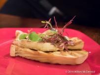 Mushrooms looking remarkably like fois gras.... 'Setas' (Abalone mushroom, garlic, chilli)