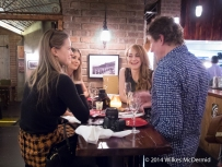 Lifestyle bloggers table! ('Its a Lifestyle Thing', 'Frouloves' & 'Heroine in Heels' with Copa De Cava owner Richard Bigg)