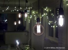 The de rigeur 'Edison style' filament bulbs
