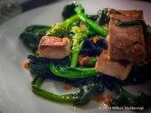 Tofu Salad with Wild Broccoli, Garlic and Chili oil