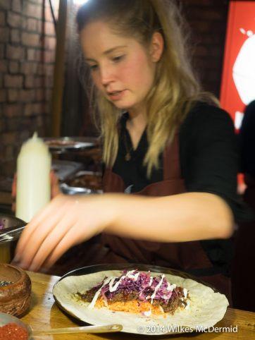 Burrito construction by Kimchinary
