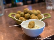 Crumbed Anchovy Olives, served with Aioli