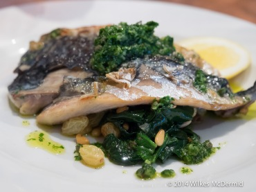 Grilled Mackerel... also served with Spinach & Pine Nuts