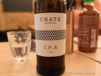 Craft beers, including Crate IPA