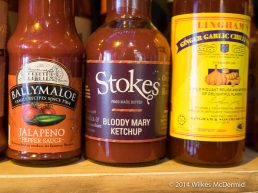 """Sauces galore... including Stokes - """"Bloody Mary"""" Ketchup?"""