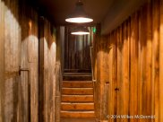 Corridors lined with corrugated Iron