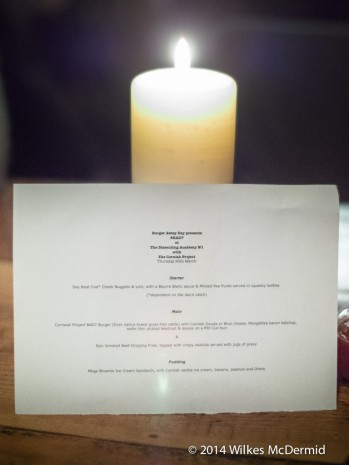 The menu for tonight...