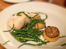 Cod Loin & Nuggets on a bed of samphire and lemon