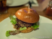 """""""Cornish Project #BAD7 Burger (from native grass-fed cattle) with Cornish Gouda or Blue Cheese, Mangalitza bacon ketchup, wafer thin pickled beetroot & leaves on a Pitt Cue Co bun"""""""