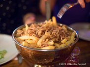 """""""Epic Beef Dripping Fries, topped with crispy shallots served with jugs of gravy"""""""