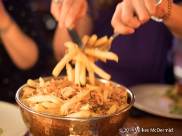 """More """"Epic Smoked Beef Dripping Fries""""... served by the hands of an Italian girl..."""