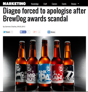 """Diageo threatened to remove sponsorship of all future events"" - Marketing Magazine"