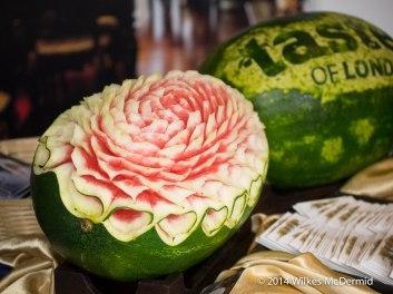 Thai watermelon carving