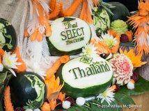 Thai fruit carving skills