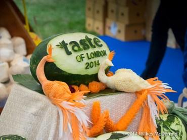 Thai fruit carving skills