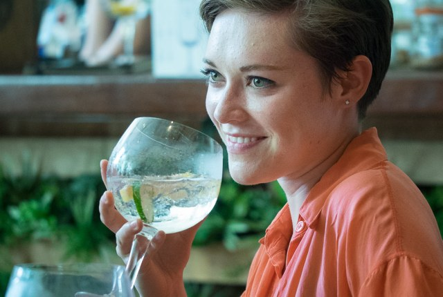Gin makes people happy.