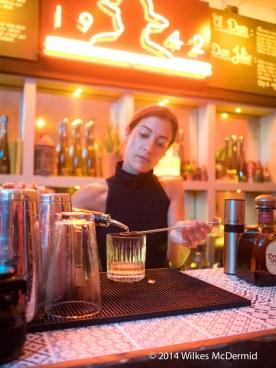 Andrea serving Don Julio Cocktails