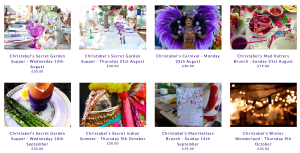Pop up events by Christabel's