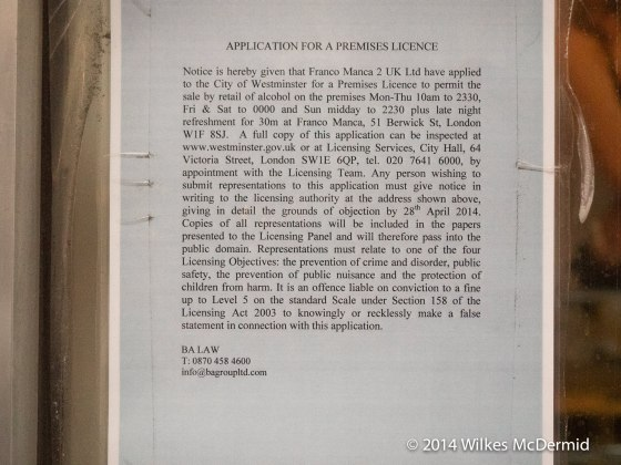 Application for a Premises Licence