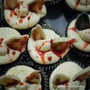 """Decapitated bunny ear"" Cupcakes"