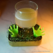 """""""Urn-Aged Corpse Reviver No.2""""... served with the hands of the undead"""