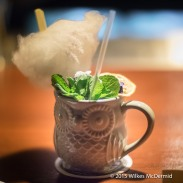 """""""Tu-Whit-Tu-Whoo-Woo"""" Served in an owl mug and garnished with candy floss"""