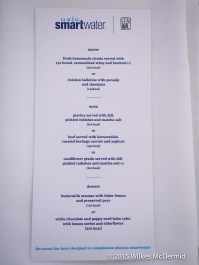 Menu - Choose any two dishes from two starters, three mains and two desserts